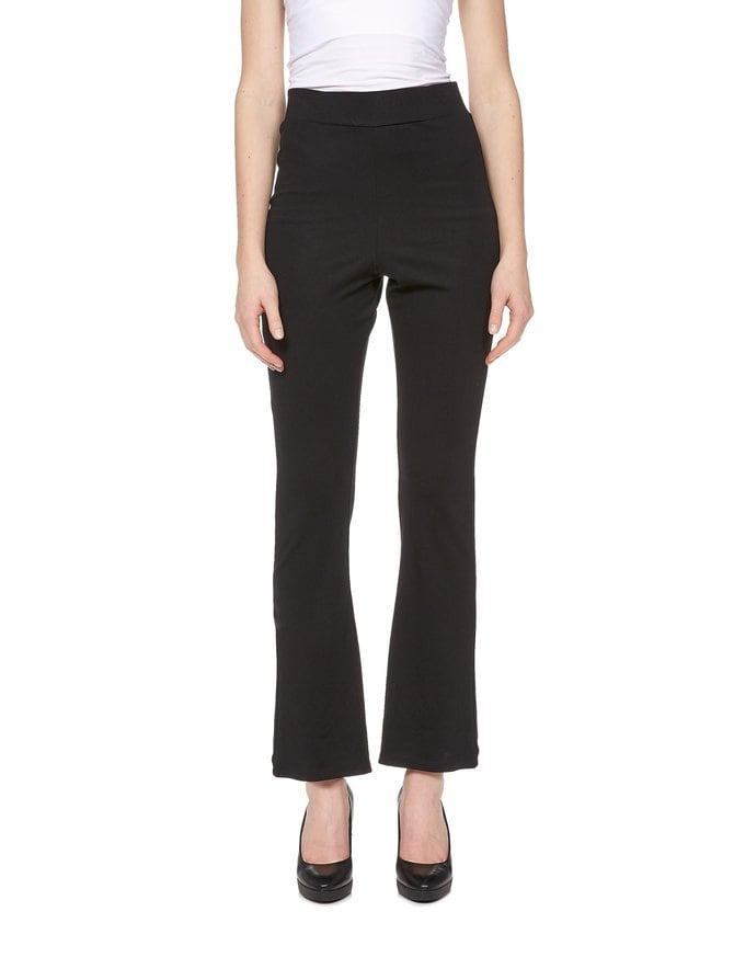 High Waist Flare Jersey Pants -housut