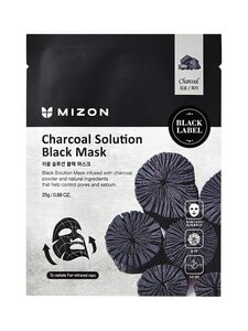 Mizon - Charcoal Solution Black Mask -kangasnaamio 25 g | Stockmann