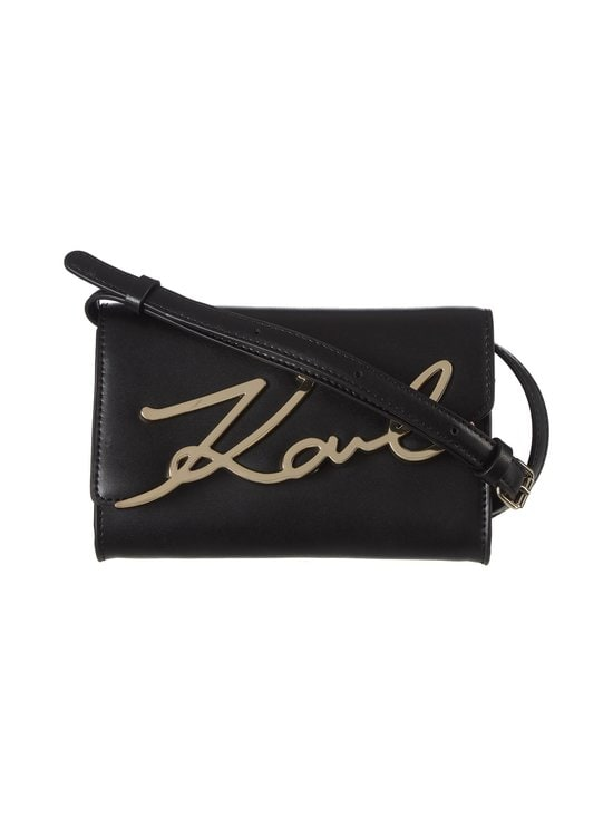 Karl Lagerfeld - K/Signature Beltbag -nahkalaukku - 997 A997 BLACK/GOLD | Stockmann - photo 1