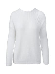 NA-KD - Knitted Deep V-neck Sweater -paita - WHITE | Stockmann