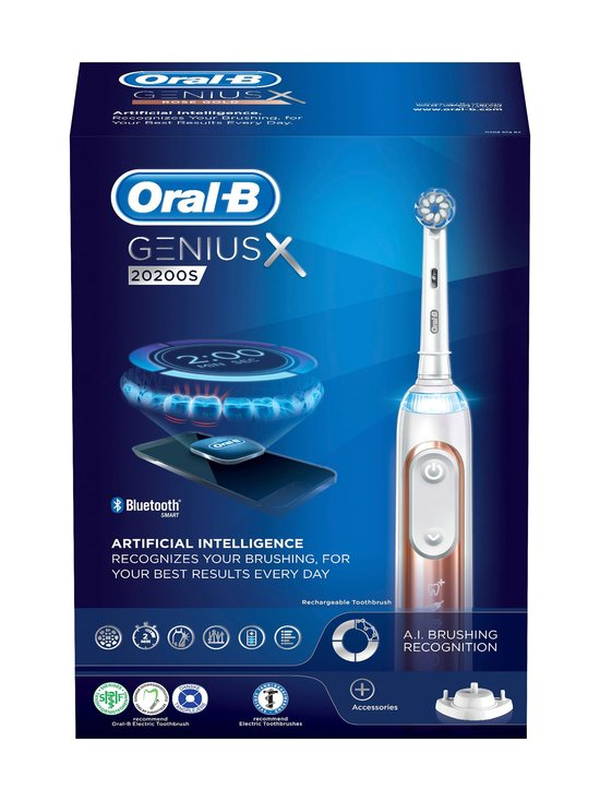 Oral-B - Genius X 20200S -sähköhammasharja - ROSEGOLD | Stockmann - photo 1