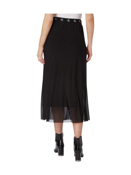 Calvin Klein Jeans - Logo Waistband Midi Skirt -hame - BEH CK BLACK | Stockmann - photo 2