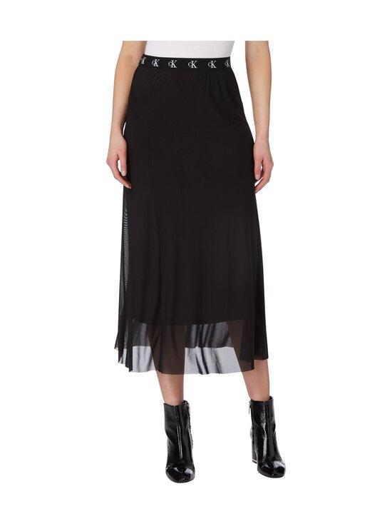 Calvin Klein Jeans - Logo Waistband Midi Skirt -hame - BEH CK BLACK | Stockmann - photo 3