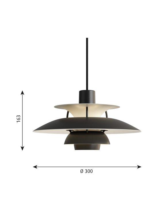 Louis Poulsen - PH5 Mini -riippuvalaisin 30 cm - MONOCHROME BLACK | Stockmann - photo 2
