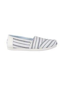 Toms - Textured Stripe -kengät - 100 WHITE | Stockmann