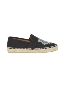 Kenzo - Tiger-espadrillot - 99 - CANVAS TIGER HEAD EMBROIDERY - BLACK | Stockmann