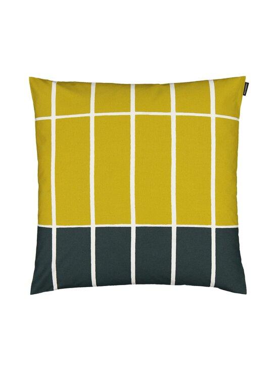 Marimekko - Tiiliskivi-tyynynpäällinen 50 x 50 cm - 686 DARK GREEN, BEIGE, LIME | Stockmann - photo 1