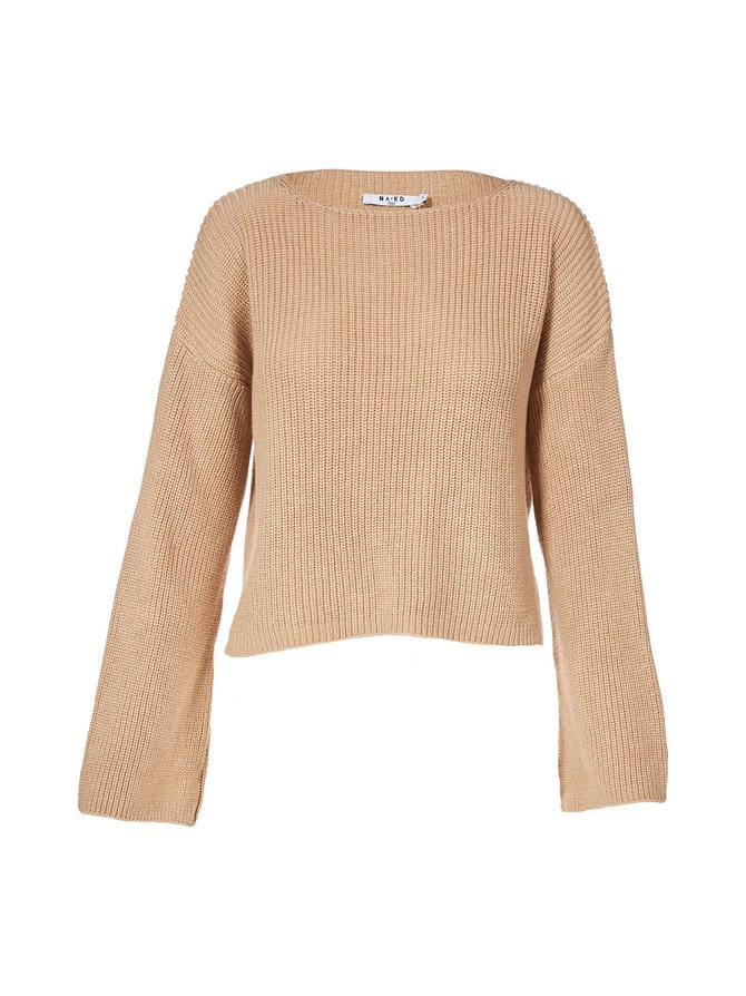 Cropped Long Sleeve -neule