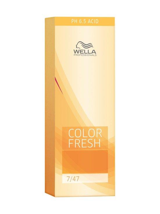 Wella Professional Color Fresh - Color Fresh -suoraväri 75 ml - MEDIUM RED BRUNETTE BLONDE 7/47   Stockmann - photo 1