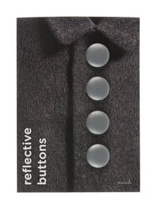 March Design - Heijastava nappi ø 3 cm, 4 kpl - SILVER (HOPEA)   Stockmann