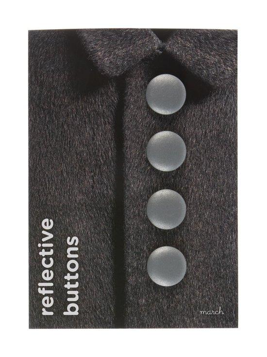 March Design - Heijastava nappi ø 3 cm, 4 kpl - SILVER (HOPEA) | Stockmann - photo 1