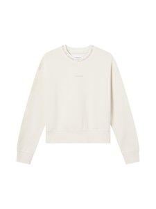Calvin Klein Jeans - Logo Trim Crew Neck Sweatshirt -collegepaita - PGA WHITE SAND | Stockmann