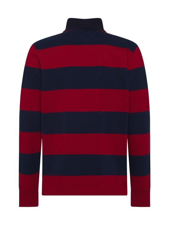 Tommy Hilfiger - Tommy Hilfiger Iconic Block Stripe Rugby -paita - 0EV ARIZONA RED / NIGHT SKY | Stockmann - photo 2