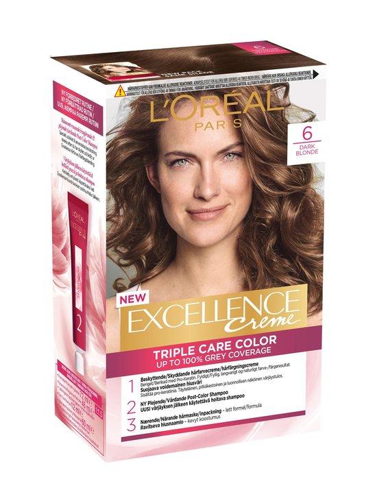L'Oréal Paris - Excellence Creme Triple Care Color 6.03 -hiusväri - 6 DARK BLONDE | Stockmann - photo 1