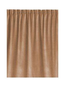 Linum - Paolo-samettiverho 135 x 290 cm - CAMEL BROWN | Stockmann
