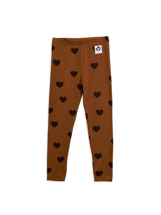 Mini Rodini - Hearts-leggingsit - BROWN | Stockmann - photo 1