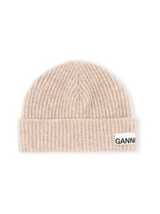 Ganni - Recycled Wool Knit Beanie -pipo - BRAZILIAN SAND 196 | Stockmann