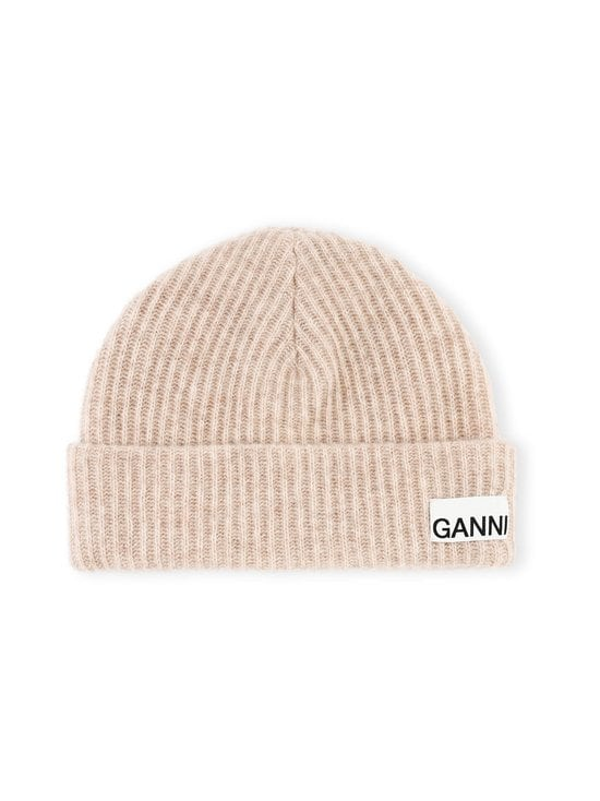 Ganni - Recycled Wool Knit Beanie -pipo - BRAZILIAN SAND 196 | Stockmann - photo 1