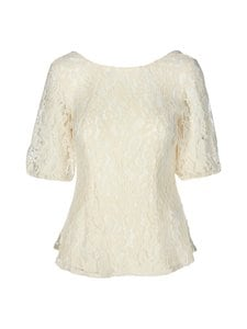 NA-KD - Open Back Lace Top -pusero - OFF WHITE | Stockmann