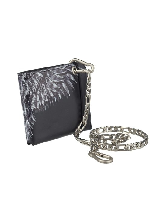 MARCELO BURLON - Sharp Wings Chain Wallet -nahkalompakko - 1001 BLACK WHITE | Stockmann - photo 1