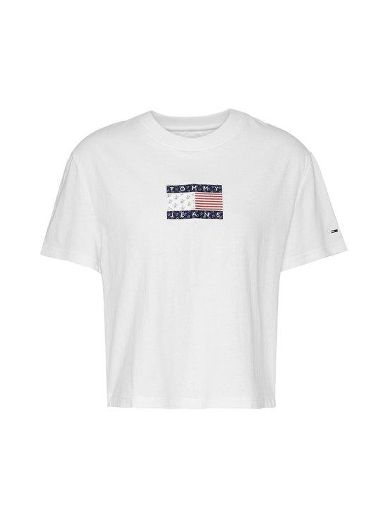 Tommy Jeans - Tjw Star Americana Flag Tee -paita - YBR WHITE   Stockmann - photo 1
