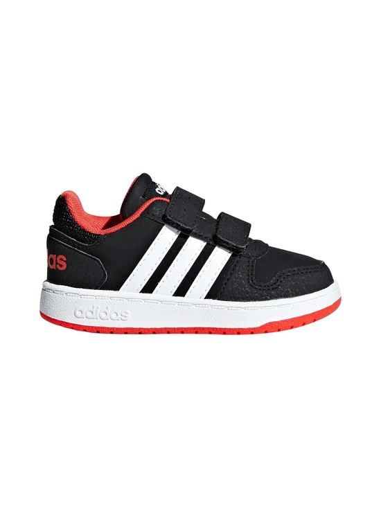 adidas Performance - Hoops 2.0 -kengät - CORE BLACK / CLOUD WHITE / HI-RES RED | Stockmann - photo 1