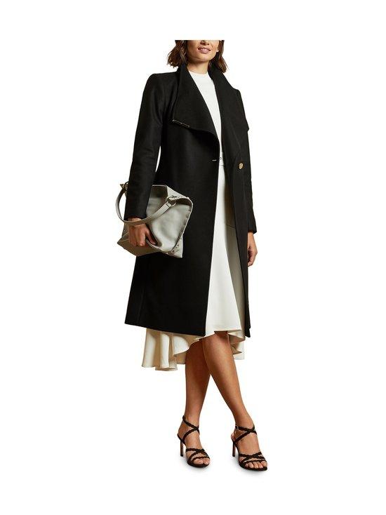 Ted Baker London - Rose Midi Wool Wrap Coat With Shoulder Panels -villakangastakki - BLACK | Stockmann - photo 3