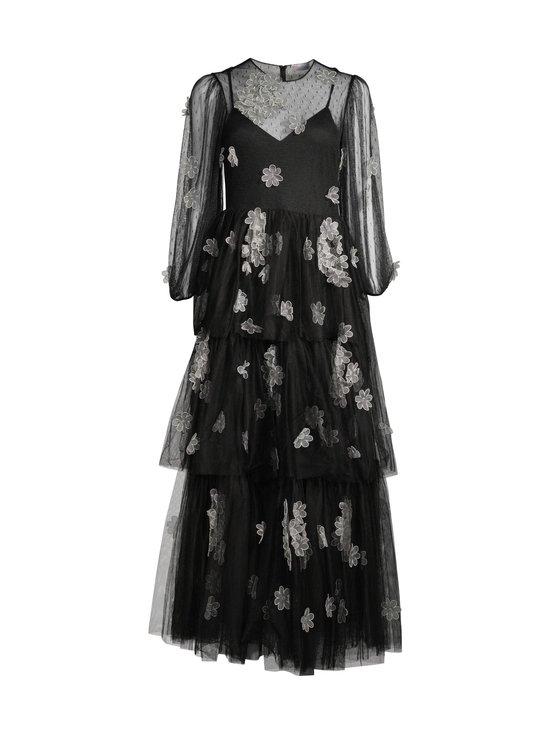RED Valentino - Organza Flowers Embroidered Point D'Esprit Tulle Dress -mekko - 0NO BLACK   Stockmann - photo 1