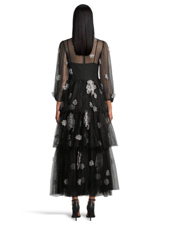 RED Valentino - Organza Flowers Embroidered Point D'Esprit Tulle Dress -mekko - 0NO BLACK   Stockmann - photo 3