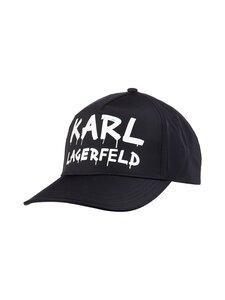 Karl Lagerfeld - Graffiti Logo Cap -lippalakki - A998 BLACK/WHITE   Stockmann