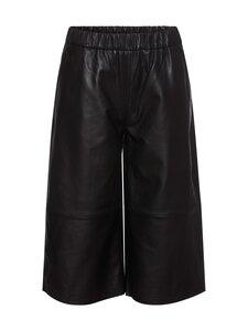RUE de FEMME - Felicia leather pants -nahkahousut - 20 BLACK | Stockmann