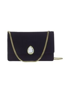 Ted Baker London - Emeldah Teardrop Crystal Velvet Evening Bag -laukku - 00 BLACK | Stockmann