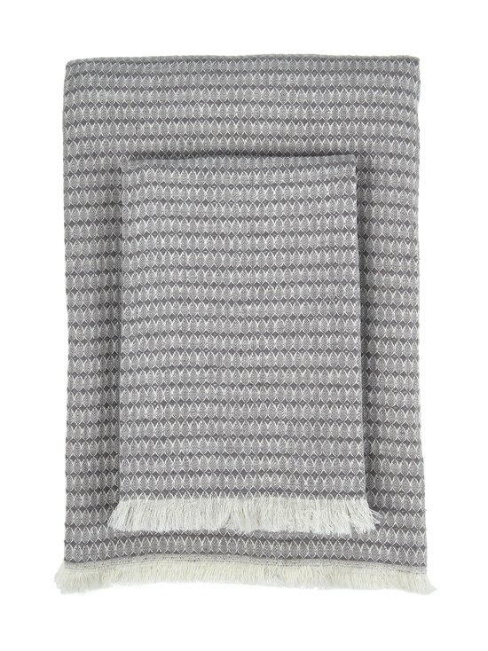 Villa Stockmann - Trebbia-pellavapyyhe - GREY/SOFT WHITE MIX | Stockmann - photo 1