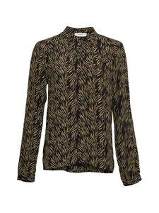 Moss Copenhagen - Calie Morocco LS Shirt AOP -pusero - SAGE ZEBRA | Stockmann
