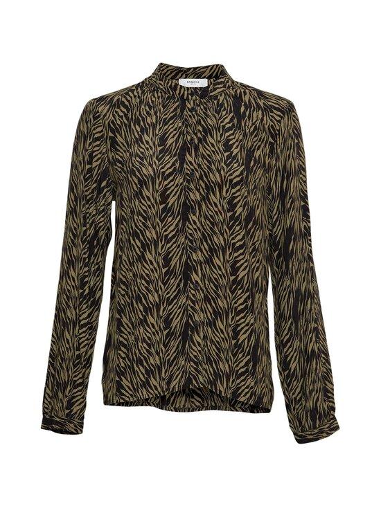 Moss Copenhagen - Calie Morocco LS Shirt AOP -pusero - SAGE ZEBRA | Stockmann - photo 1