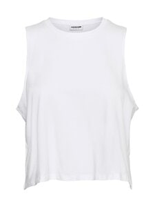 Noisy may - NMHAILEY S/L CROP TANK TOP -toppi - BRIGHT WHITE | Stockmann
