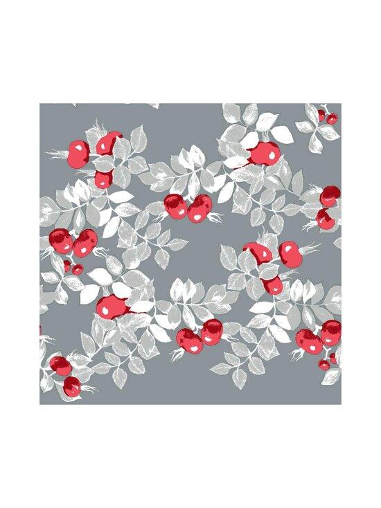 Vallila - Ruusunen-servetti 24 x 24 cm, 20 kpl - GREY-RED | Stockmann - photo 1