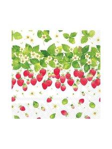 Ihr - Strawberry Season -servetti 24 x 24 cm - VALKOINEN/VIHREÄ/PUNAINEN | Stockmann