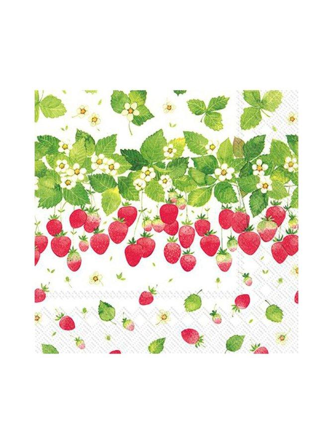 Strawberry Season -servetti 24 x 24 cm