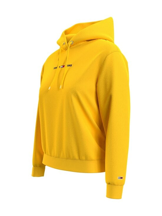 Tommy Jeans - TJW Linear Logo Hoodie -huppari - ZGQ STAR FRUIT YELLOW   Stockmann - photo 5