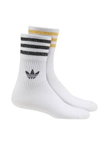 adidas Originals - Mid Cut Glitter Crew -sukat - WHITE/BLACK/VICGOL WHITE/BLACK/VICTORY GOLD | Stockmann