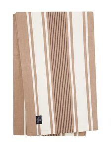 Lexington - Striped Cotton Twill Tablecloth -pöytäliina 150 x 250 cm - BEIGE/WHITE   Stockmann