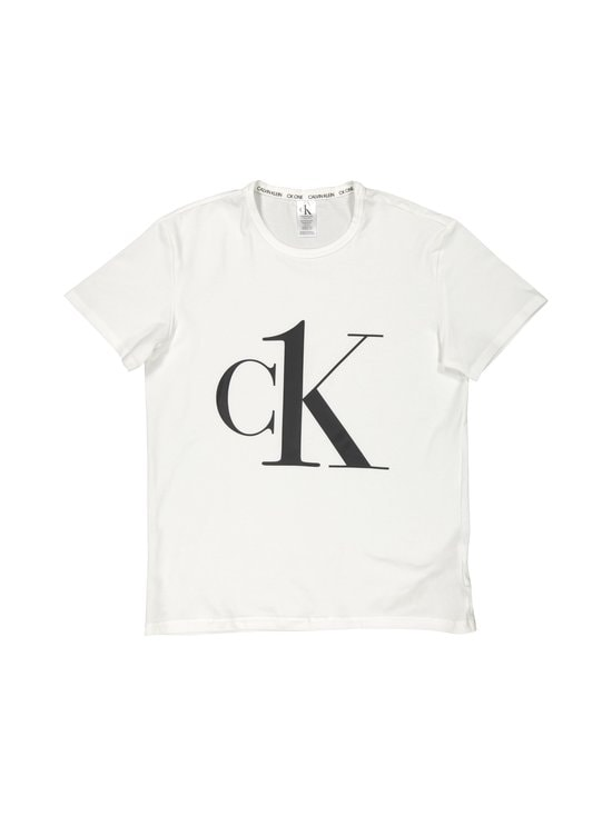 Calvin Klein Underwear - S/S Crew Neck -paita - 7UM WHITE_BLACK LOGO | Stockmann - photo 1