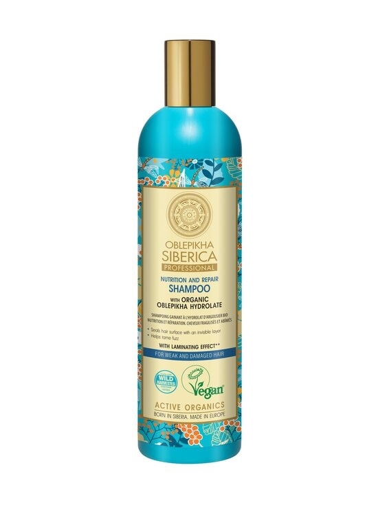 Natura Siberica - Organic Oblepikha Hydrolate For Weak And Damaged Hair -shampoo 400 ml | Stockmann - photo 1