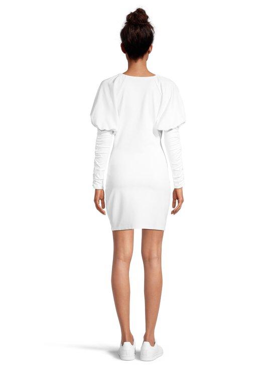 NA-KD - Gathered Sleeve Jersey -mekko - WHITE | Stockmann - photo 3