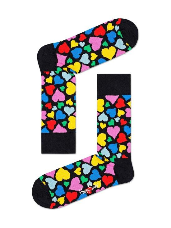 Happy Socks - Heart-sukat - 9300-BLACK | Stockmann - photo 1