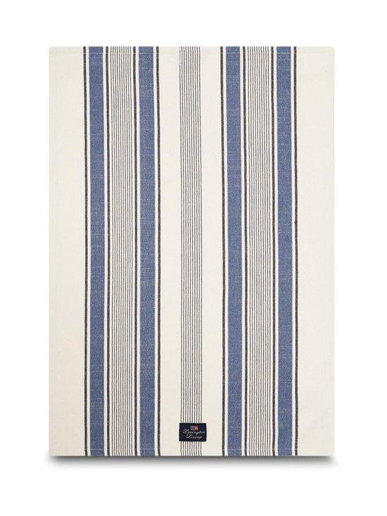 Lexington - Striped Cotton Twill -keittiöpyyhe 50 x 70 cm - WHITE/BLUE | Stockmann - photo 1