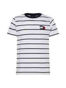 Tommy Hilfiger - Wavy Flag Stripe Tee -paita - 0K5 ECRU/DESERT SKY   Stockmann