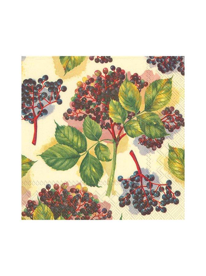 Elderberry-servetti 33 x 33 cm