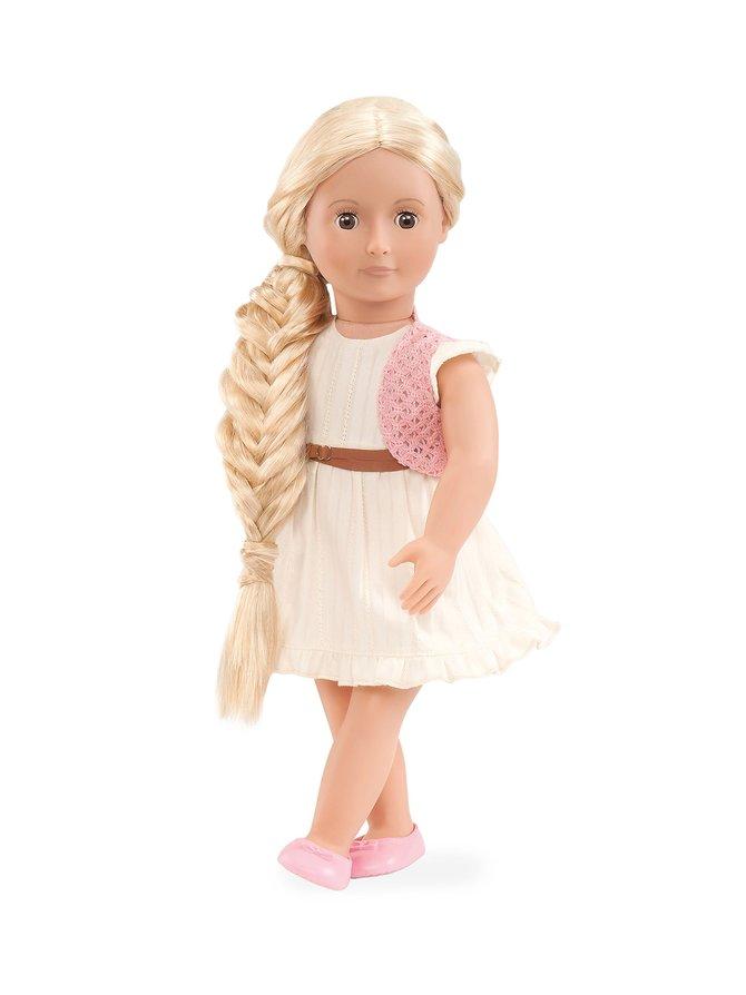 Our Generation Hair Grow -nukke, vaalea Phoebe 46 cm